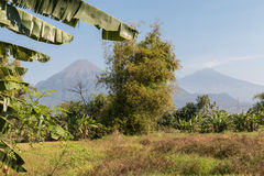 Volcano Agung. Mount Agung active volcano mountain in Bali Royalty Free Stock Images