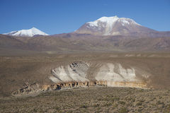 Volcano on the  Altiplano of Northern Chile Royalty Free Stock Image