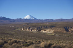 Volcano on the  Altiplano of Northern Chile Royalty Free Stock Images