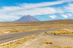 Volcano. The Andes, Road Cusco- Puno, Peru,South America. 4910 m above. The longest continental mountain range in the world Stock Photography