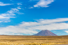 Volcano. The Andes, Road Cusco- Puno, Peru,South America. 4910 m above. The longest continental mountain range in the world Stock Images