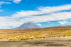Volcano. The Andes, Road Cusco- Puno, Peru,South America. 4910 m above. The longest continental mountain range in the world Stock Image
