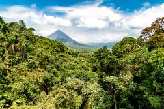 Volcano of Arenal in Costa Rica Stock Photo