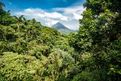 Volcano of Arenal in Costa Rica Royalty Free Stock Images