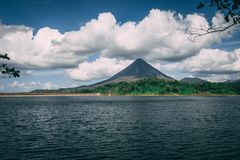 Volcano Arenal in Costa Rica stock photography