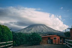 Volcano Arenal in Costa Rica royalty free stock images