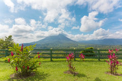 Volcano Arenal in Costa Rica Royalty Free Stock Photography