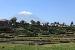 The Volcano around Arequipa Stock Photography