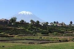 The Volcano around Arequipa Stock Photography
