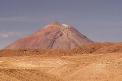 Volcano on Atacama desert, Chile Stock Images