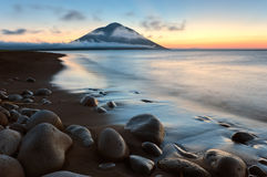 Volcano Atsonupuri. fotografie stock