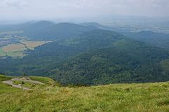 Volcano in Auvergne , France Royalty Free Stock Photography