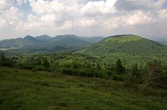 Volcano in Auvergne , France Royalty Free Stock Photos