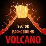 Volcano background. The eruption of the volcano in the background for an inscription. Stock Photography