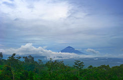 Volcano on Bali island Royalty Free Stock Photography