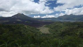 Volcano Batur stock footage