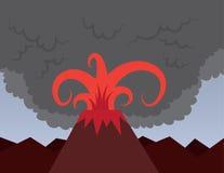 Volcano Bursting Stock Photography