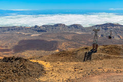 Volcano Cable Car Royalty Free Stock Photography