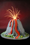 Volcano cake Stock Photography