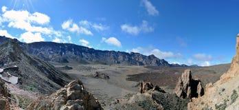Volcano Caldera. El Teide Caldera on Tenerife, Spain Royalty Free Stock Image