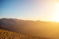 Volcano Caldera Blanca på den Lanzarote ön arkivbilder