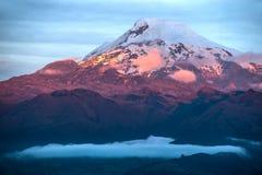 Volcano Cayambe in Ecuador Stock Photography