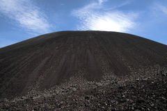 Volcano Cerro Negro, near Leon, Nicaragua. A view of Volcano Cerro Negro from the bottom. A popular spot for volcano boarding and hiking royalty free stock image