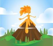 Volcano Character Stockfoto