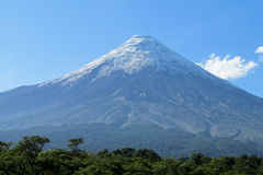 Volcano in Chile stock photography