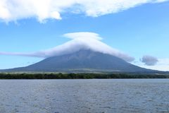 Volcano Concepcion, ilha de Ometepe, Nicar?gua fotografia de stock