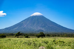 Volcano Concepcion på den Ometepe ön i sjön Nicaragua Arkivbild