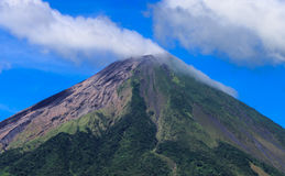 Volcano Concepcion view in Ometepe Royalty Free Stock Photos