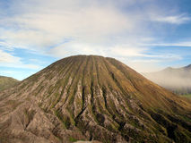 Volcano cone. Landscape around active volcano Bromo in Indonesia royalty free stock image