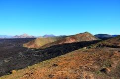 Volcano Crater à Lanzarote, Espagne Images libres de droits