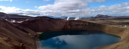 Volcano crater 07 Royalty Free Stock Photography