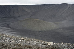 Volcano crater. Hverfjall crater in Myvatn area in northern Iceland Royalty Free Stock Photos