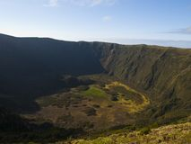 Volcano crater Stock Image