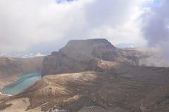 Volcano Crater Fotografie Stock