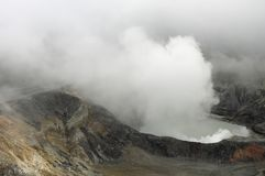 Volcano Crater. Crater of an active volcano royalty free stock photography