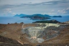 Volcano Crater Aeolian Islands Italy Royalty-vrije Stock Foto
