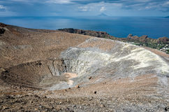 Volcano Crater Aeolian Islands Italy Stock Photos