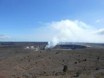 Volcano Crater in de Vulkanen Nationaal Park van Hawaï Stock Foto