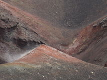 Volcano crater etna. A close look of a volcano crater Etna, Sicily royalty free stock images