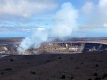 Volcano Crater in Hawaï Royalty-vrije Stock Afbeeldingen