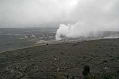 Volcano crater on Hawaii Royalty Free Stock Images