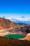 Volcano Crater Lake Of Mount Zao, Japan Stock Photos