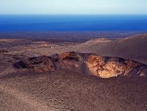 Volcano Crater, Lanzarote. Stock Images