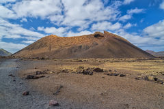 Volcano crater, Lanzarote, Spain Stock Images