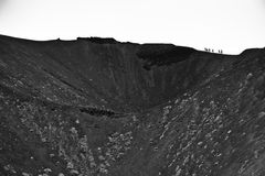 Volcano crater of mount Etna in Sicily Stock Photos