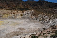 Volcano crater, Nisyros island Stock Photos